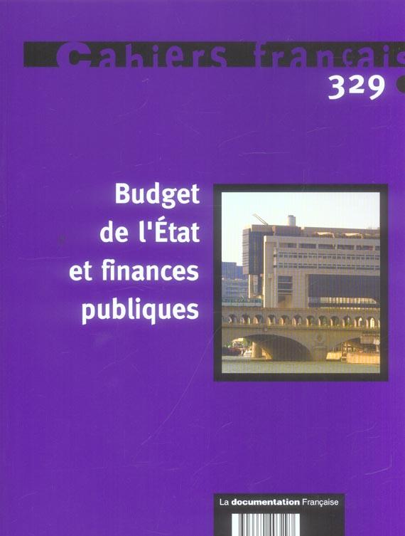 Budget De L'Etat Et Finances Publiques