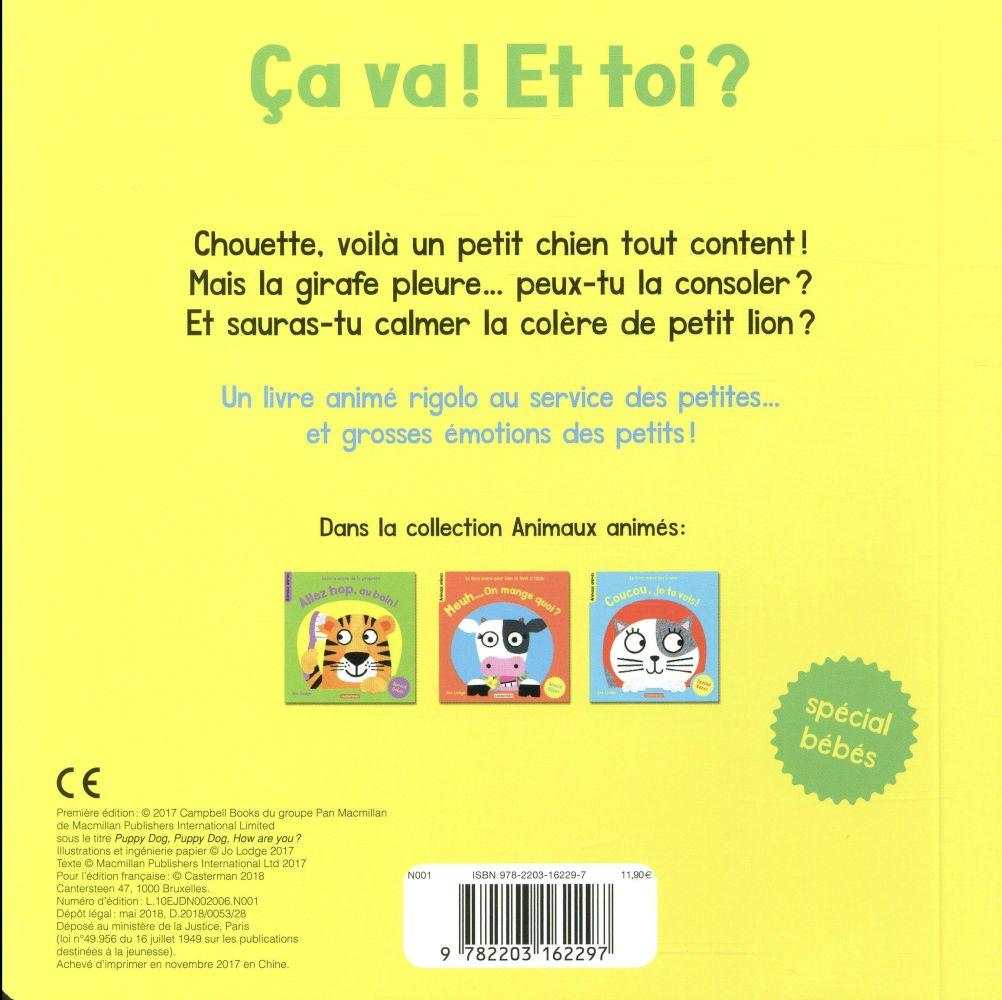 Le livre animé des 5 sens ; ça va ! et toi ?