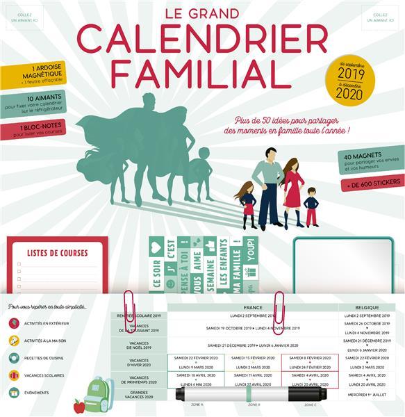 Le grand calendrier familial ; plus de 50 idées pour partager des moments en famille toute l'année ! (édition 2019/2020)