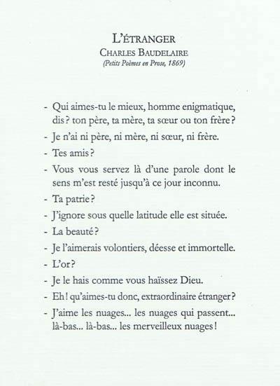 L Etranger Charles Baudelaire L Escalier Grand Format Le Hall Du Livre Nancy