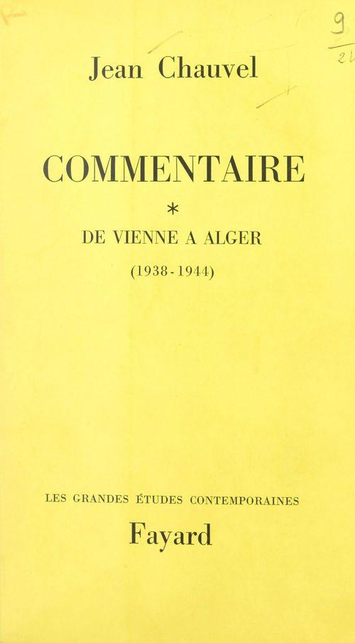 Commentaire (1)  - Jean Chauvel