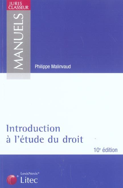Introduction a l'etude du droit (10e édition)