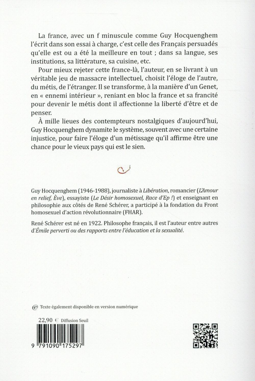 La beauté du métis ; réflexions d'un francophobe