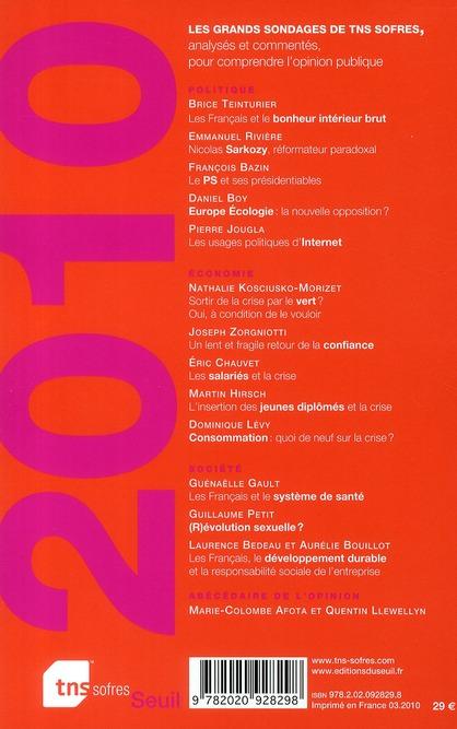 L'état de l'opinion (édition 2010)