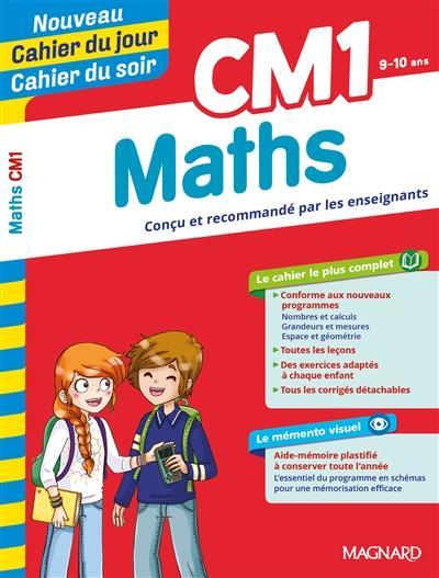 Cahiers du jour/ soir ; mathématiques ; CM1