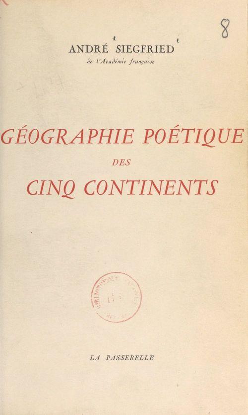 Géographie poétique des cinq continents