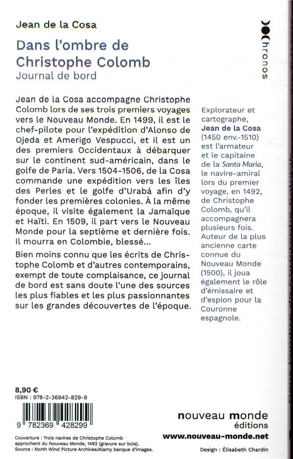 Dans l'ombre de Christophe Colomb ; journal de bord du capitaine Juan de la Cosa