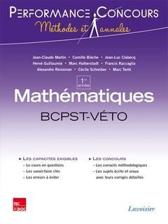 PERFORMANCE CONCOURS ; mathématiques ; 1re année BCPST-véto