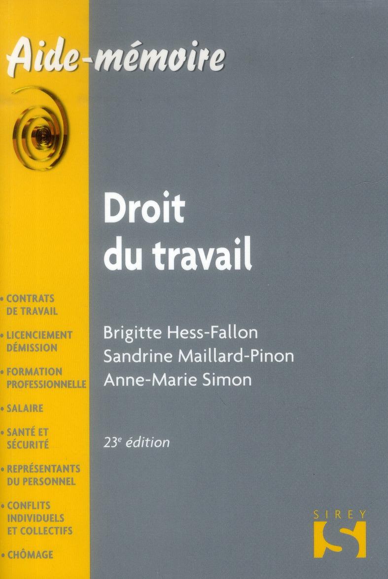 droit du travail (édition 2013)