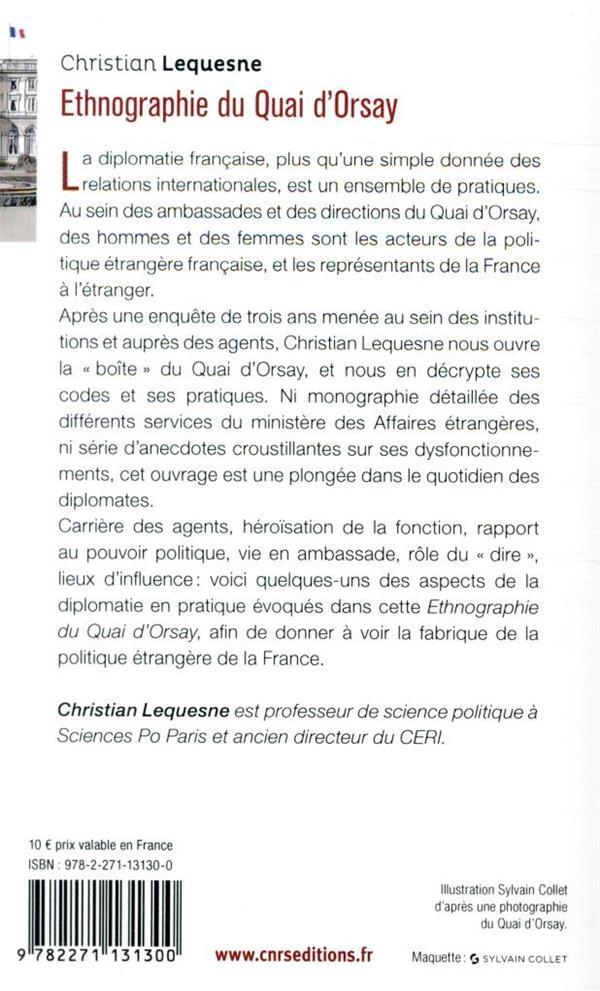 Ethnographie du Quai d'Orsay ; les pratiques des diplomates français