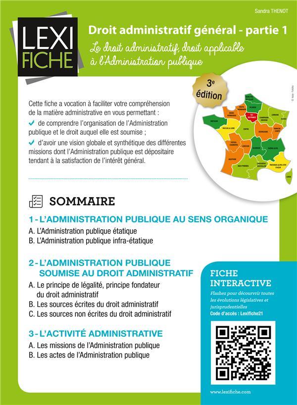 Droit Administratif T.1 ; Le Droit Administratif, Droit Applicable A L'Administration Publique (3e Edition)
