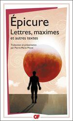 Vente Livre Numérique : Lettres, maximes et autres textes  - Épicure
