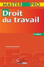Vente Livre Numérique : Master Pro. Droit du travail - 4e édition  - François Duquesne