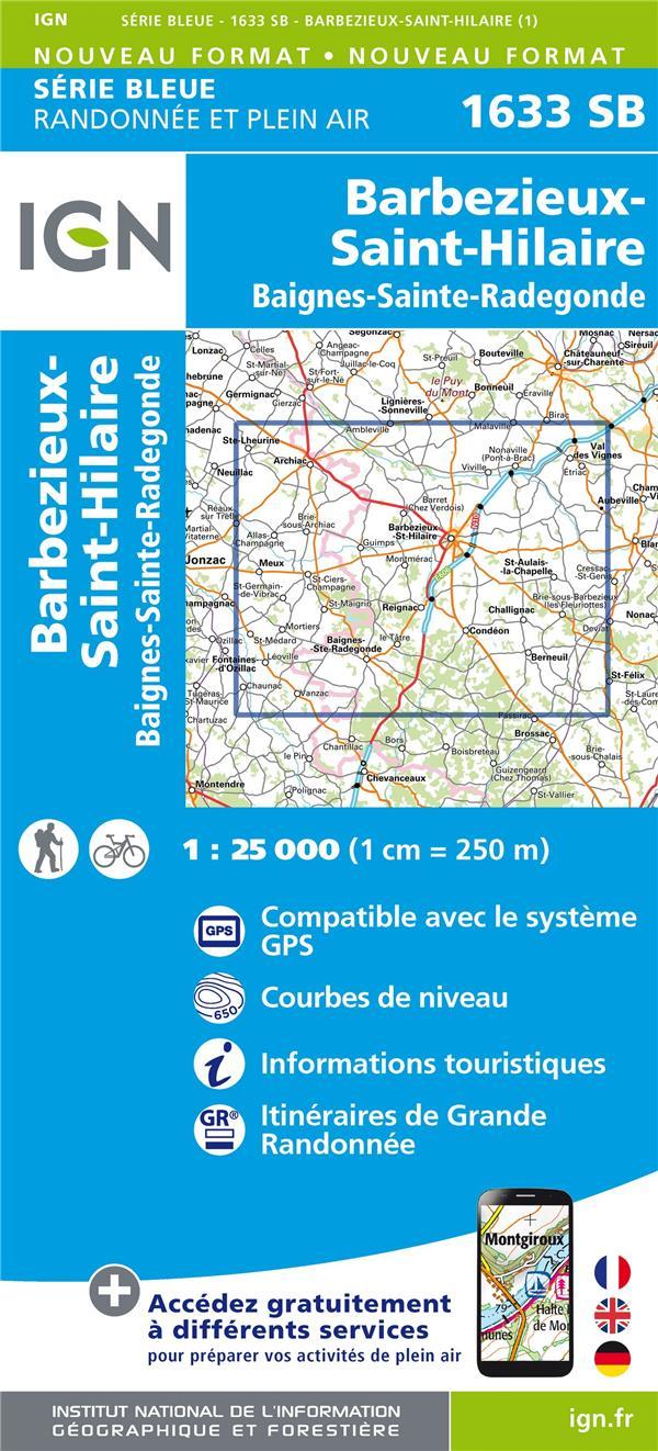 1633SB ; Barbezieux-Saint-Hilaire, Baignes-Sainte-Radegonde (édition 2018)