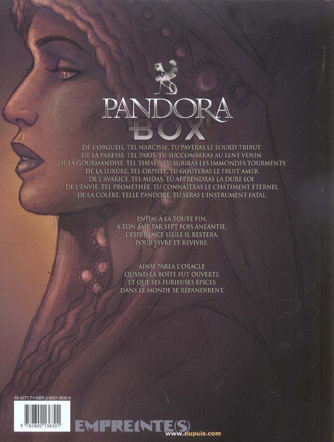 Pandora box T.3 ; la gourmandise