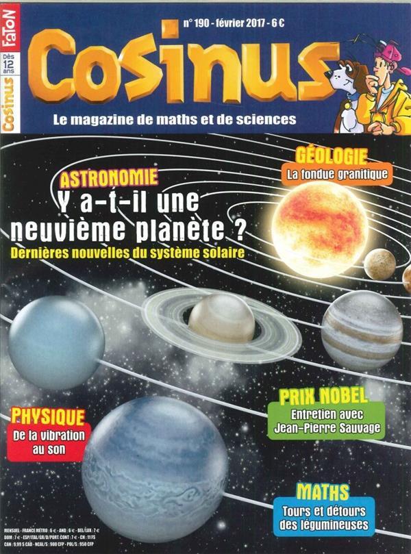 Cosinus n 190 neuvieme planete du systeme solaire fevrier 2017