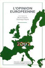 Vente Livre Numérique : L'opinion européenne 2002  - Bruno Cautrès - Dominique Reynié