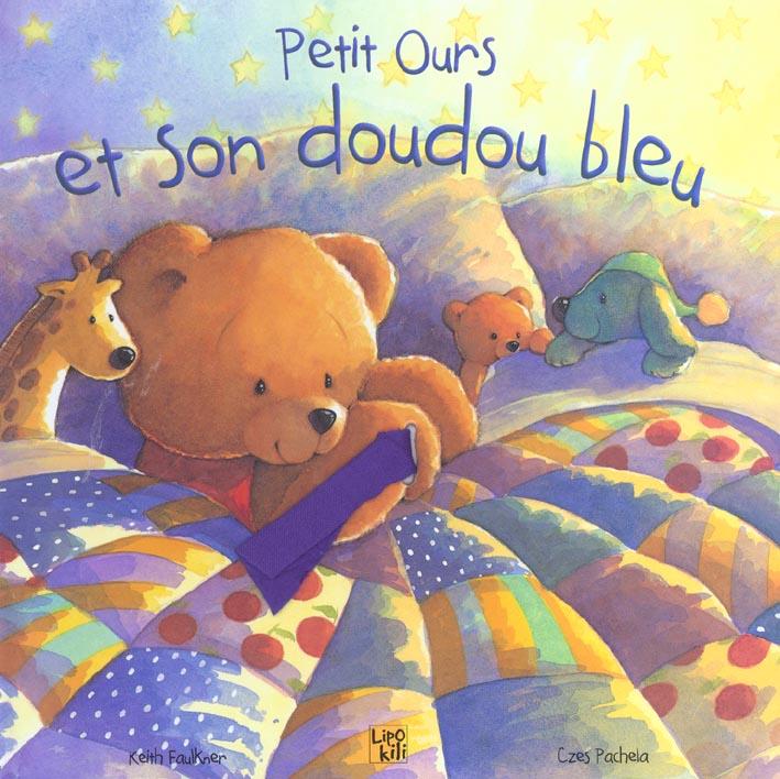 Petit ours et son doudou bleu
