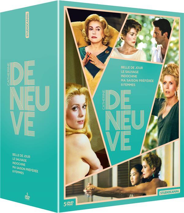 Catherine Deneuve - Coffret : Belle de jour + Le Sauvage + Indochine + Ma saison préférée + 8 femmes