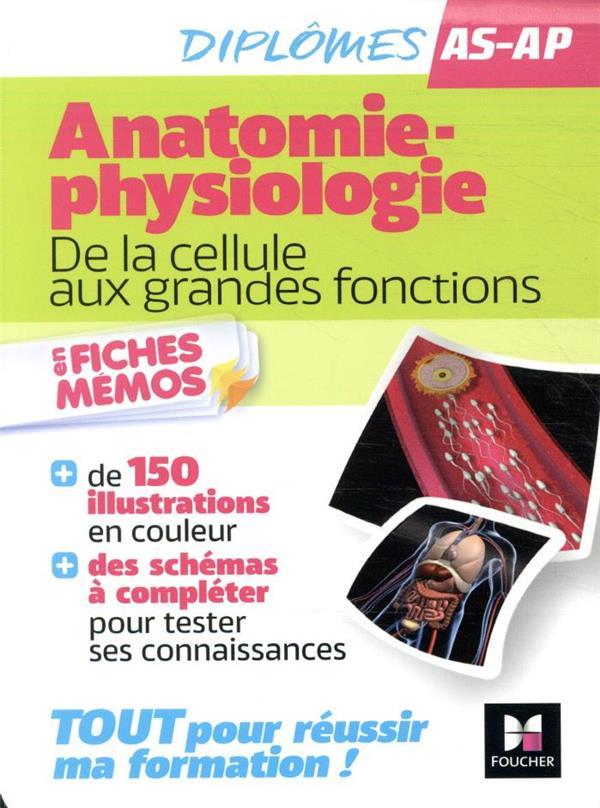 ANATOMIE-PHYSIOLOGIE : DE LA CELLULE AUX GRANDES FONCTIONS  -  AIDE-SOIGNANT, AUXILIAIRE DE PUERICULTURE  -  EN FICHES MEMOS