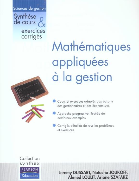 SYNTHEX ; mathématiques appliquées à la gestion