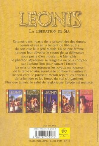 Leonis T.7 ; la libération de Sia