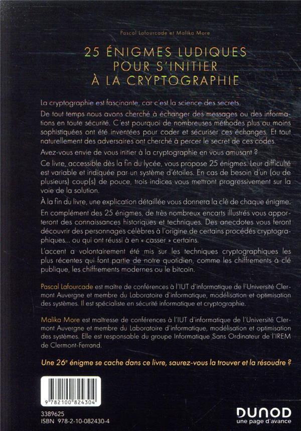 25 énigmes ludiques pour s'initier à la cryptographie