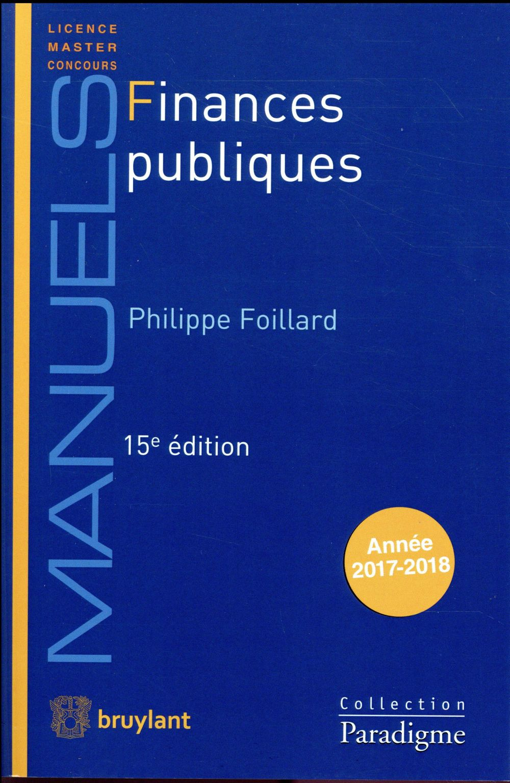 Finances publiques (15e édition)