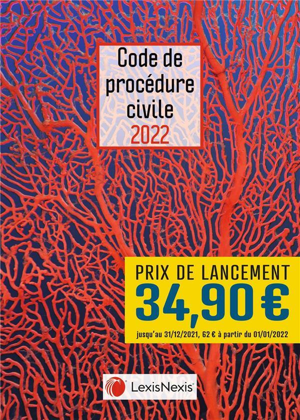 code de procédure civile : jaquette corail (édition 2022)