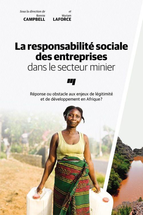 Responsabilite sociale des entreprises dans le secteur minie