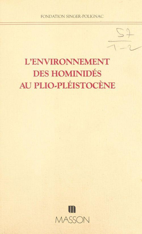 Environnement homminides