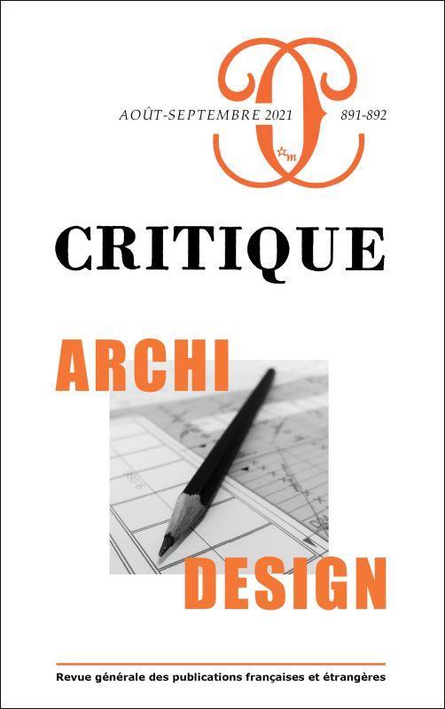 Revue critique n.891-892 ; archi/design