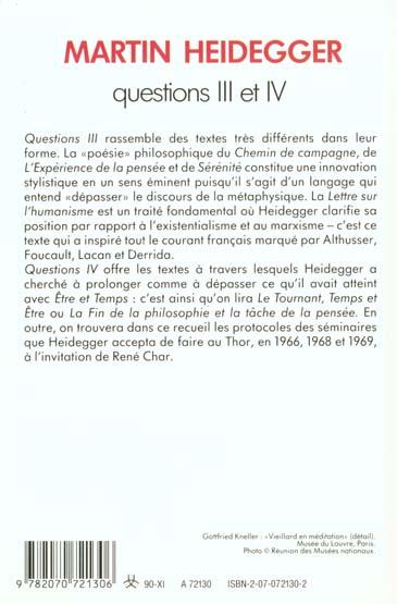 Questions iii et iv