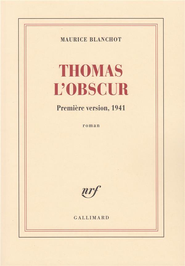 Thomas l'obscur roman