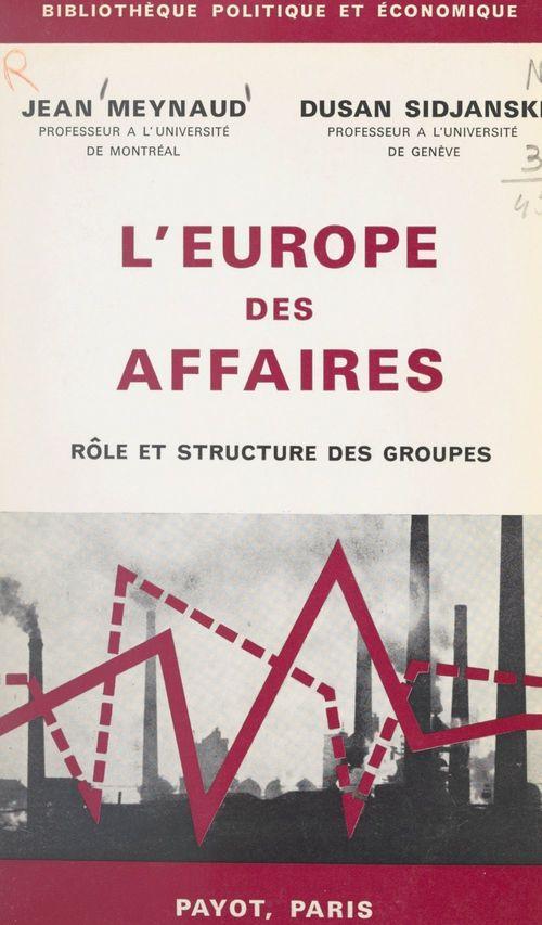 L'Europe des affaires