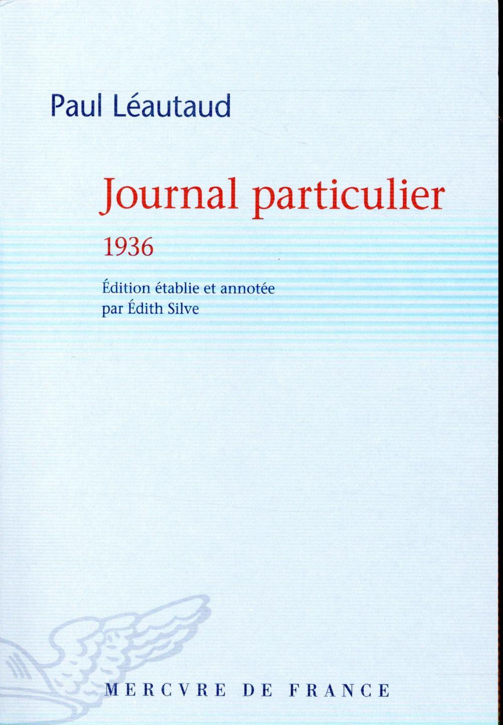 Journal particulier 1936