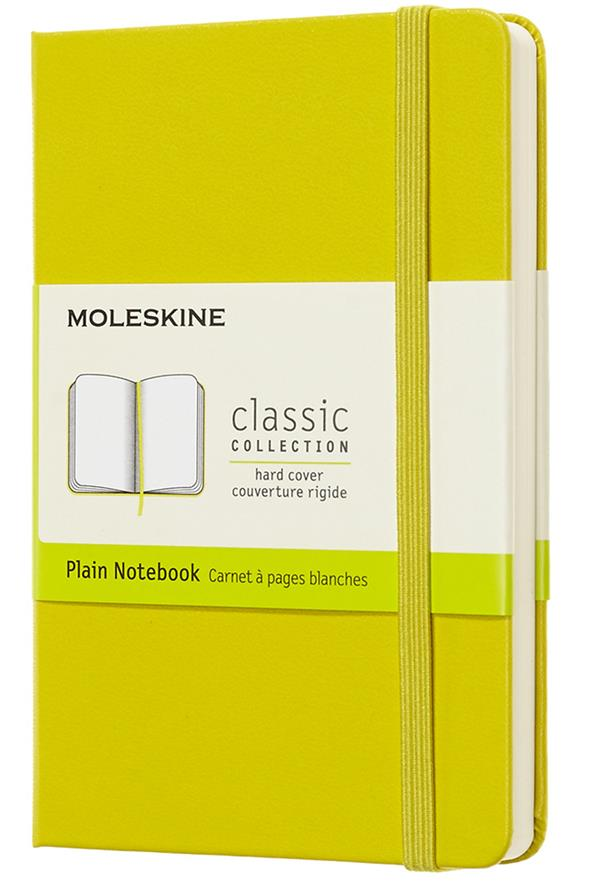 Carnet blanc poche rigide jaune dandelion