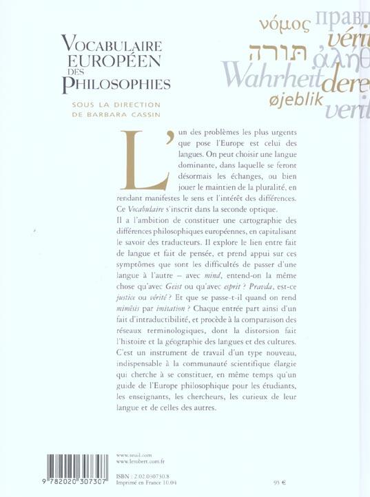 Vocabulaire européen des philosophies ; dictionnaire des intraduisibles