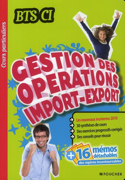 Cours Particuliers; Gestion Des Operations Import-Export ; Bts Ci