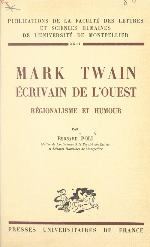 Mark Twain, écrivain de l'Ouest