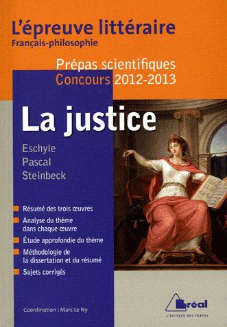 La Justice ; Epreuve Litteraire 2012/2013