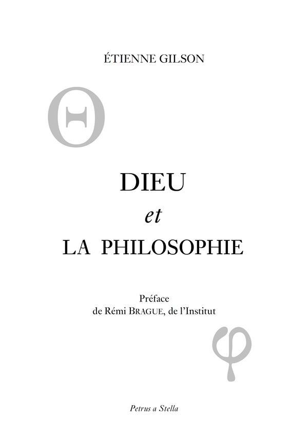 Dieu et la philosophie