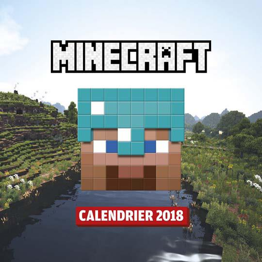 Minecraft ; calendrier (édition 2018)