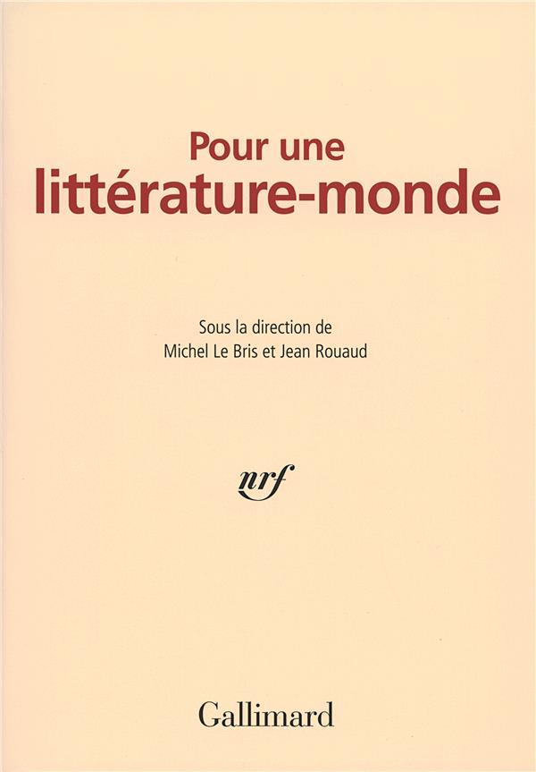 Pour une littérature-monde