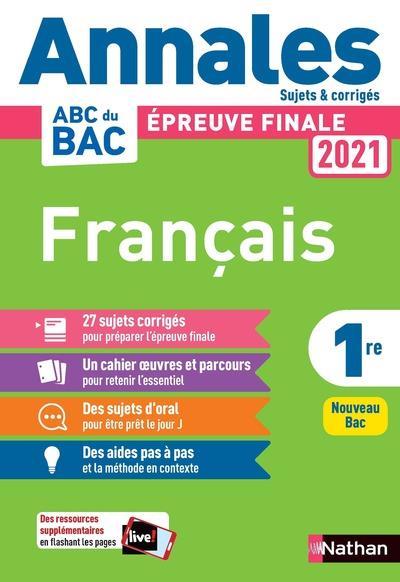 Annales ABC du bac ; sujets & corrigés ; français ; 1re (édition 2020)