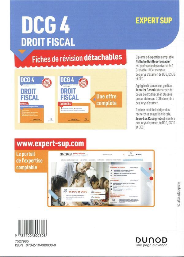 DCG 4 ; droit fiscal ; 55 fiches de révision pour réussir l'épreuve (édition 2019/2020)