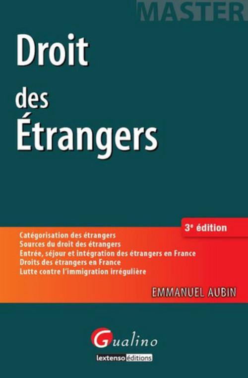 Droit des étrangers (3e édition)