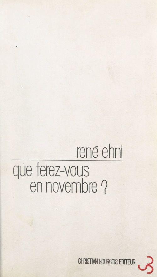 Que ferez-vous en novembre ?