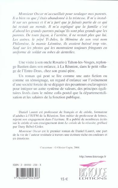 monsieur oscar - roman