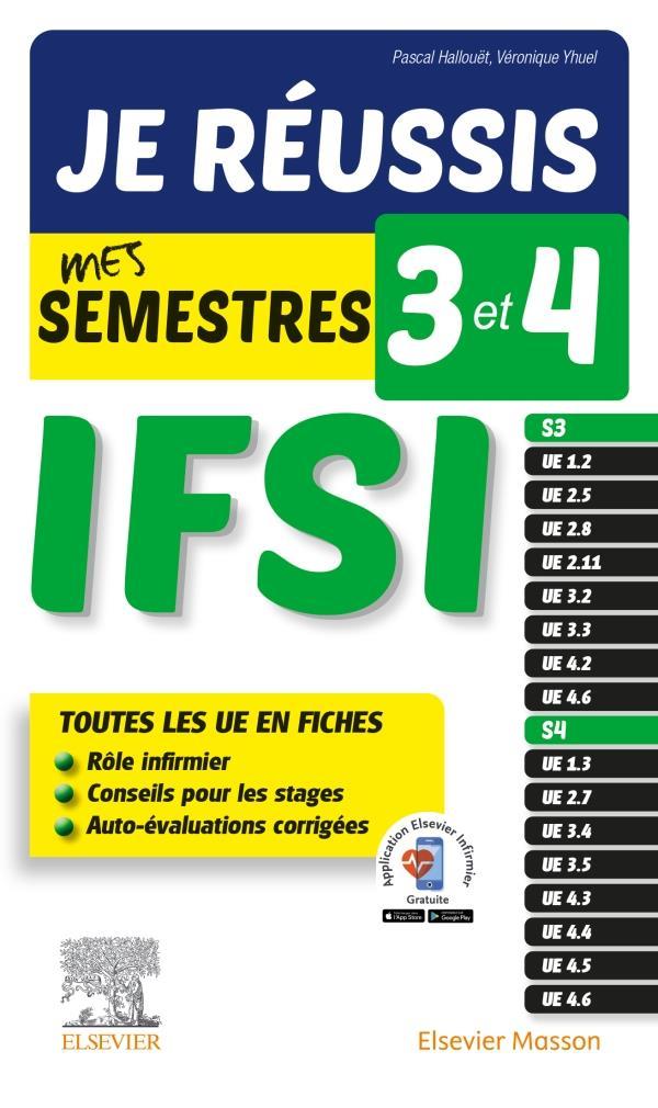 Je réussis mes semestres 3 et 4 ; IFSI ; tous les UE en fiches